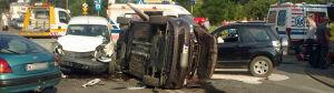 Wypadek w Wawrze: 5 osób rannych, najciężej dzieci