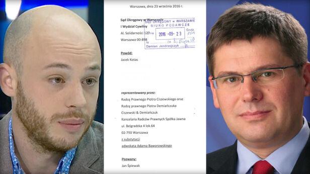 Jacek Kotas pozwał Jana Śpiewaka TVN24