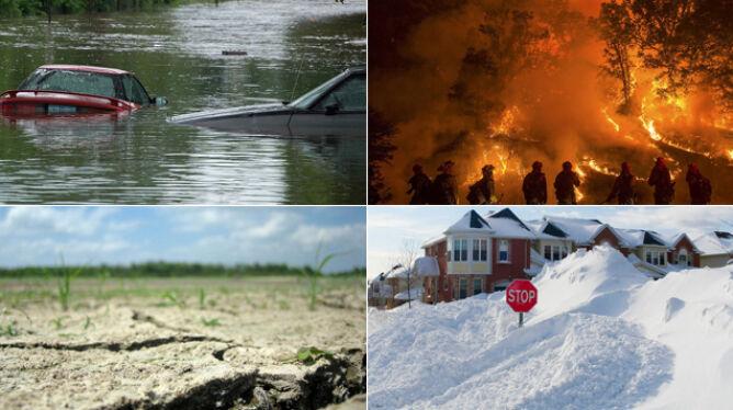 NOAA: 2014 rok był rekordowo obfity w niebezpieczne zjawiska pogodowe