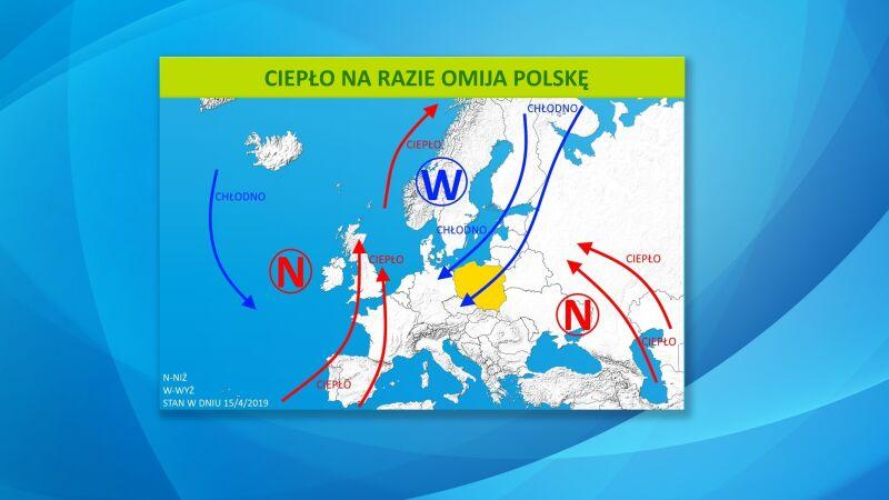Ciepło na razie omija Polskę