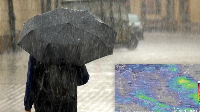 Pogoda zmienna jak w kalejdoskopie. <br />Deszcz, słońce i znowu opady
