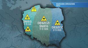 Warunki drogowe w nocy 23/24.01