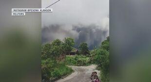 Erupcja wulkanu na Jawie