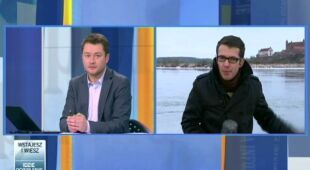 Akcja kruszenia lodu na Wiśle (TVN24)